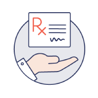 Illustration depicting a prescription