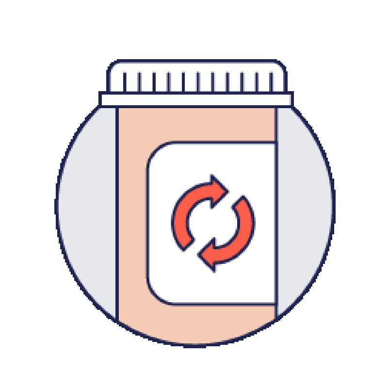Illustration depicting a prescription bottle